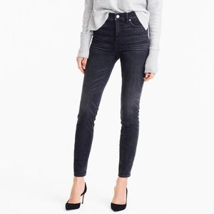 """J.Crew: 9"""" High-rise Toothpick Jean Charcoal Wash"""